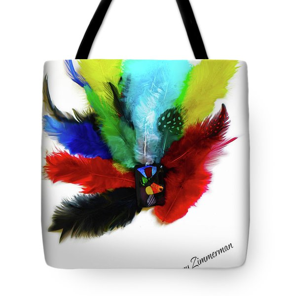 Native American Tribal Feathers Tote Bag