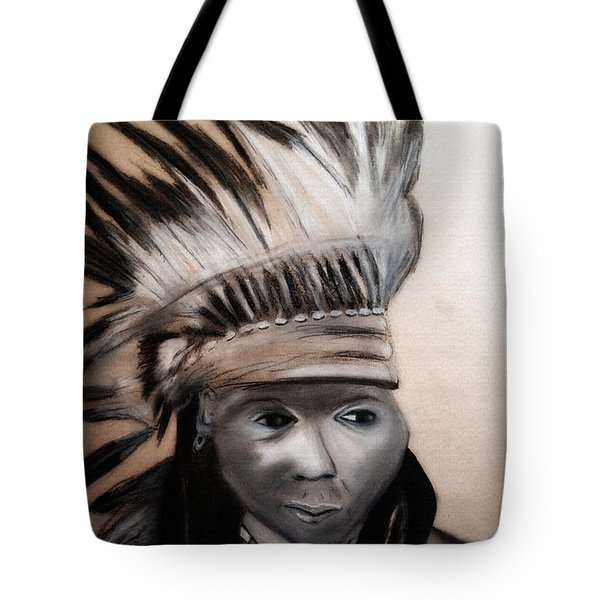 Arapaho Man With Gun. 1898. Wyoming Tote Bag