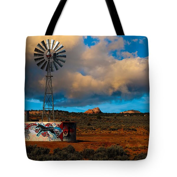Native American Windmill Tote Bag
