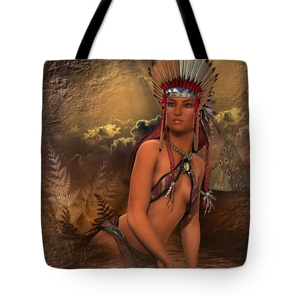 Native American Woman... Abedabun Tote Bag