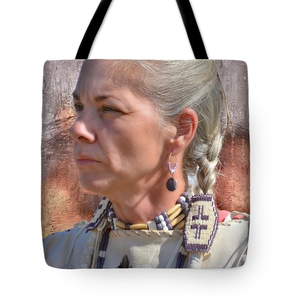 Native American Woman Tote Bag