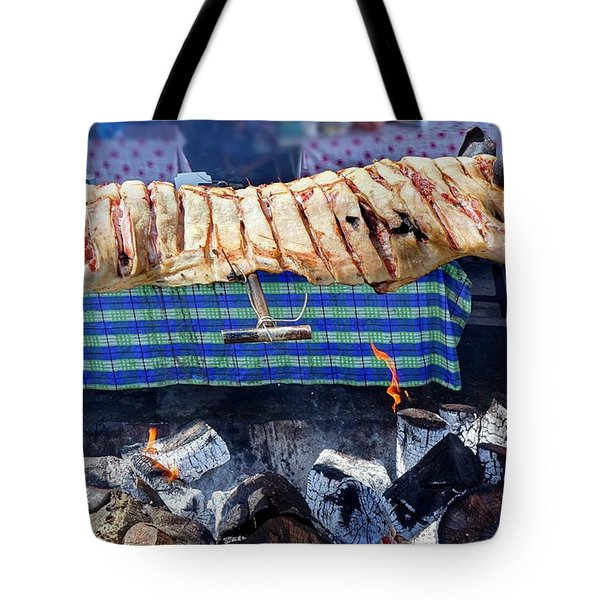 Tote Bag featuring the photograph Native Barbecue In Taiwan by Yali Shi