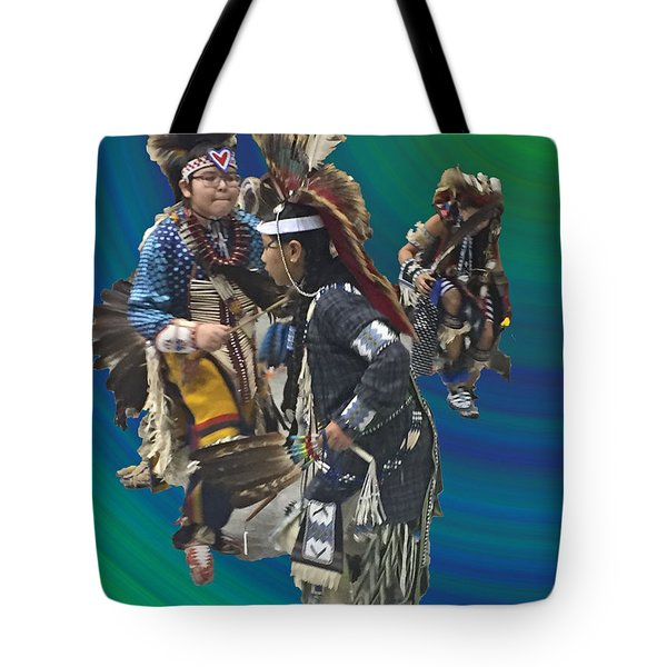 Native Children Entrance Tote Bag by Audrey Robillard