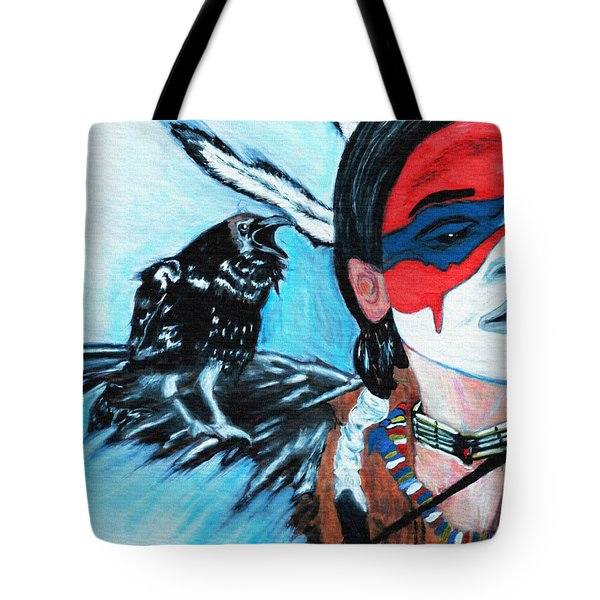 Native Raven Tote Bag by Ayasha Loya