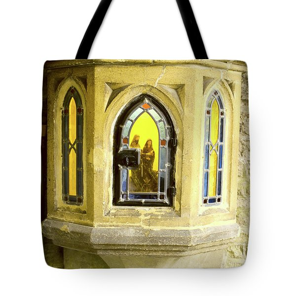 Nativity In Ancient Stone Wall Tote Bag by Linda Prewer
