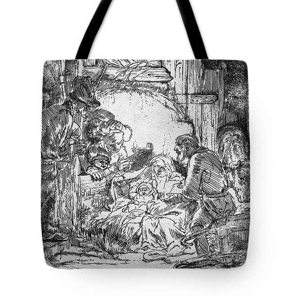 Nativity Tote Bag by Rembrandt