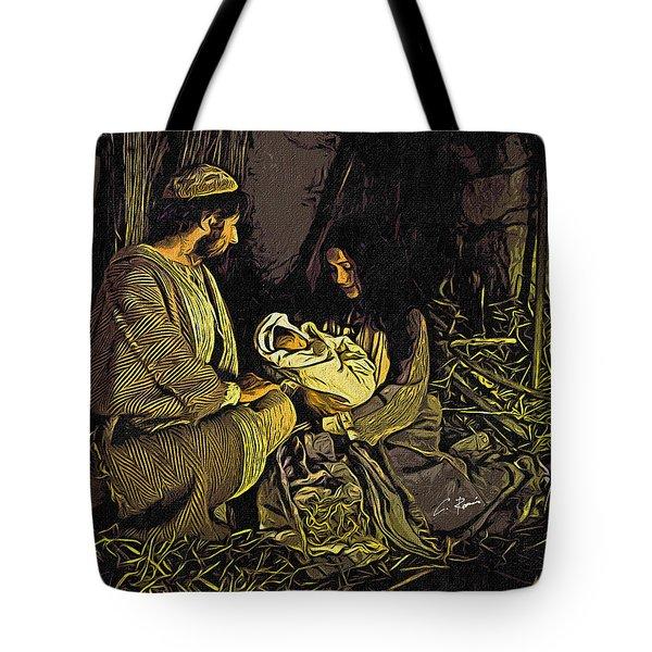 Nativity Scene Tote Bag