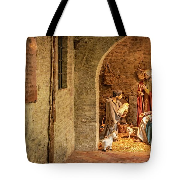 Nativity Scene In Assisi Tote Bag