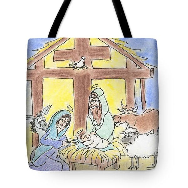 Nativity Tote Bag by Vonda Lawson-Rosa
