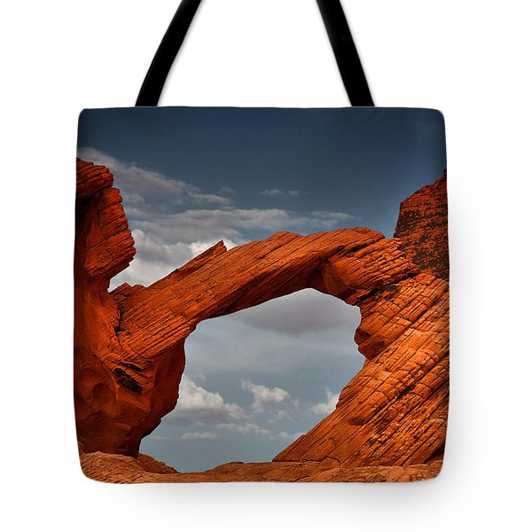 Natural Arch - Valley Of Fire - Nevada Tote Bag by Christine Till