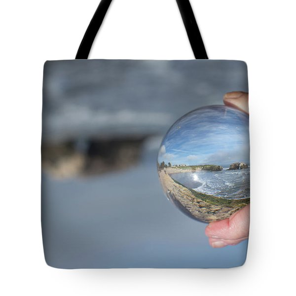 Tote Bag featuring the photograph Natural Bridge And The Ball by Lora Lee Chapman