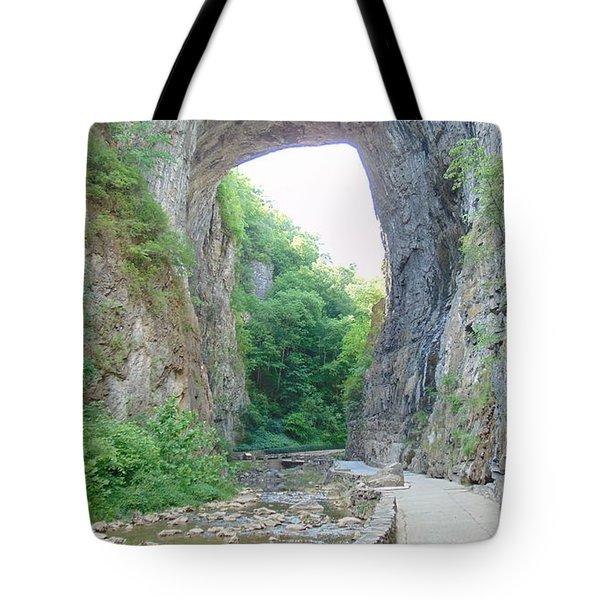 Natural Bridge Virginia Tote Bag by Charlotte Gray