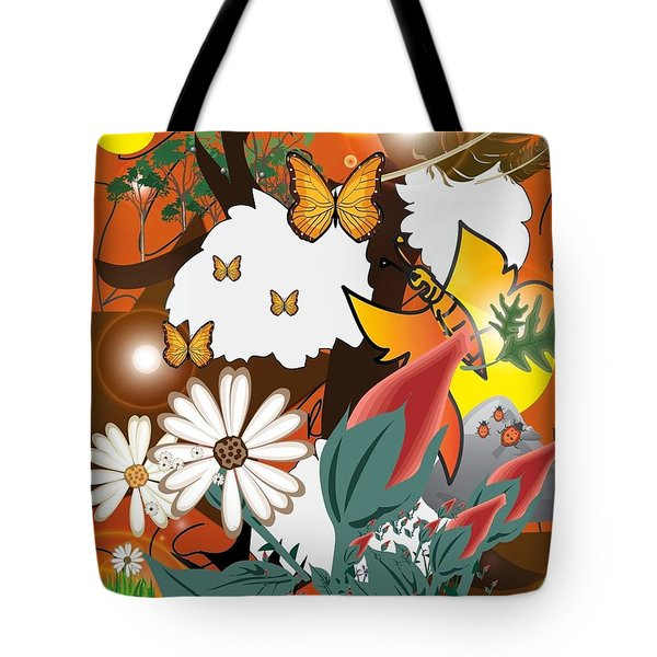 Natural Color Life Tote Bag