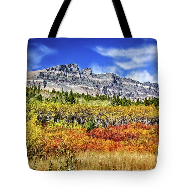 Natural Layers In Glacier National Park Tote Bag