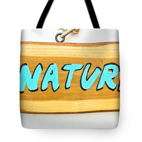 Natural Sign Tote Bag
