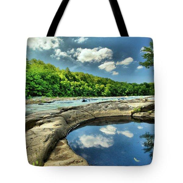 Natural Swimming Pool Tote Bag