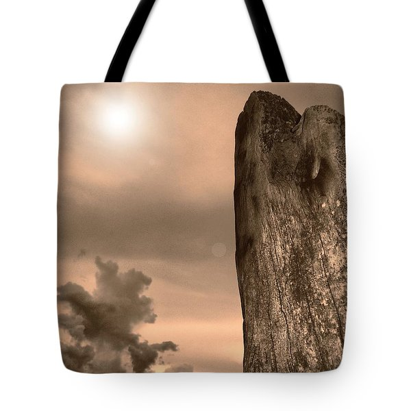 Natural Tower Tote Bag