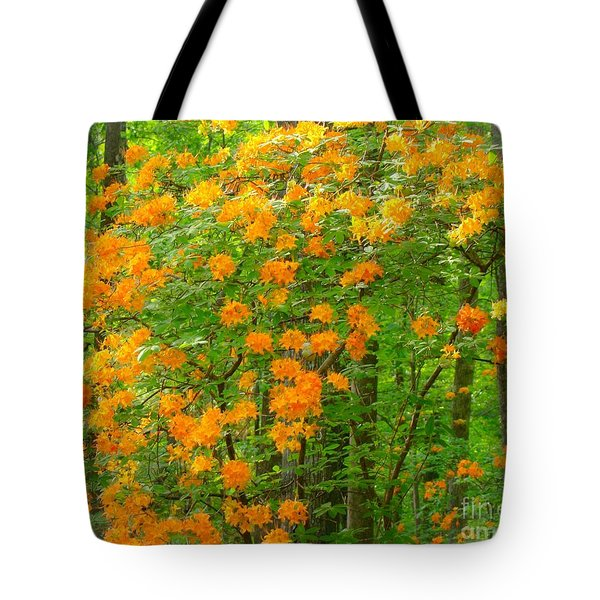 Tote Bag featuring the photograph Natural Wild Azaleas  by Rand Herron