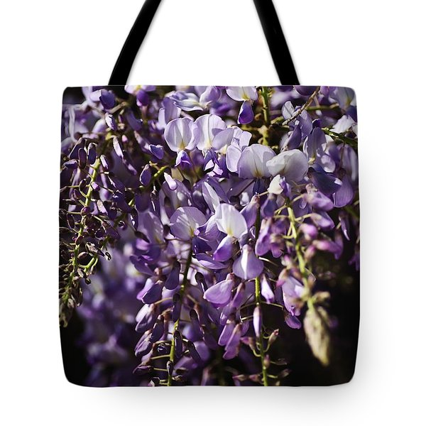 Natural Wisteria Bouquet Tote Bag