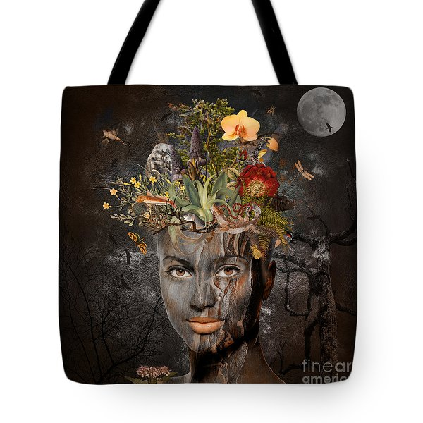 Tote Bag featuring the digital art Naturalist by Nola Lee Kelsey