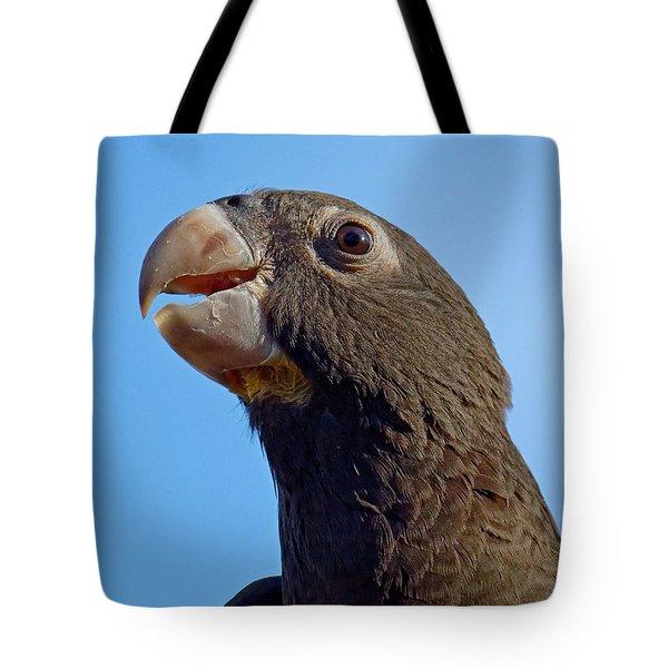 Naturally Black - Parrot Tote Bag