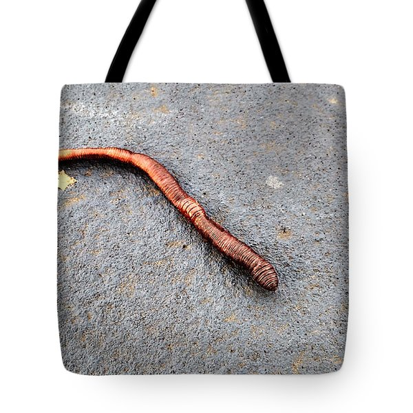 Naturally Bronzed Earthworm Tote Bag