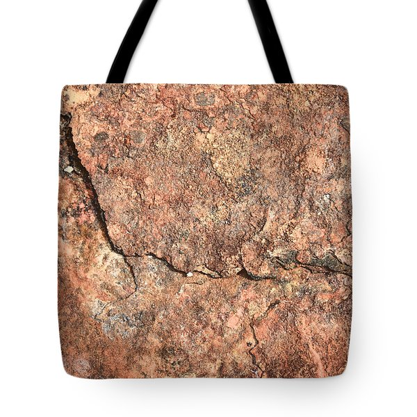 Nature Abstract - Cracked Tote Bag by Carol Groenen