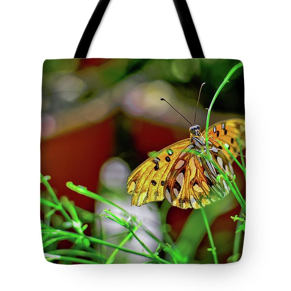 Nature - Butterfly And Plants Tote Bag
