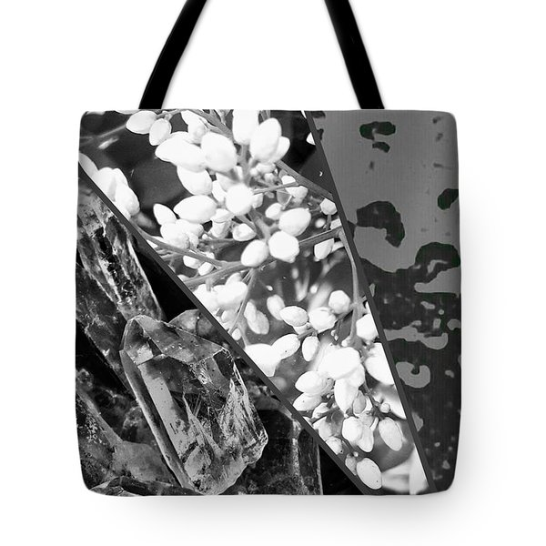Nature Collage In Black And White Tote Bag