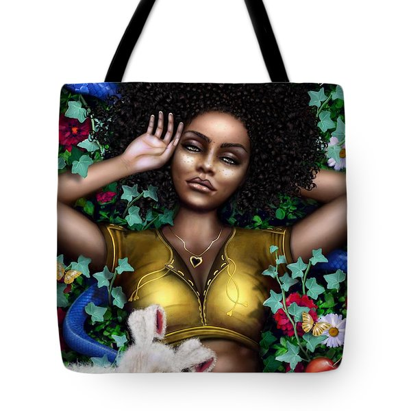 Tote Bag featuring the digital art Nature  by Dedric Artlove W