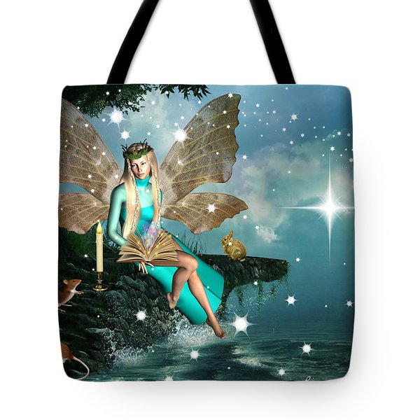 Tote Bag featuring the digital art Nature Fairy  by Riana Van Staden