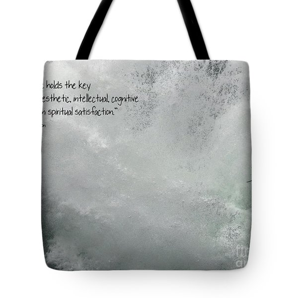 Tote Bag featuring the photograph Nature Holds The Key by Peggy Hughes