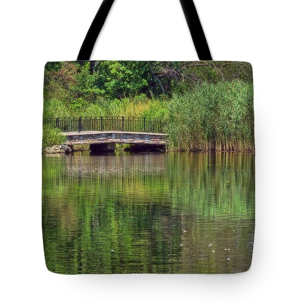 Nature In Green Tote Bag by Mikki Cucuzzo