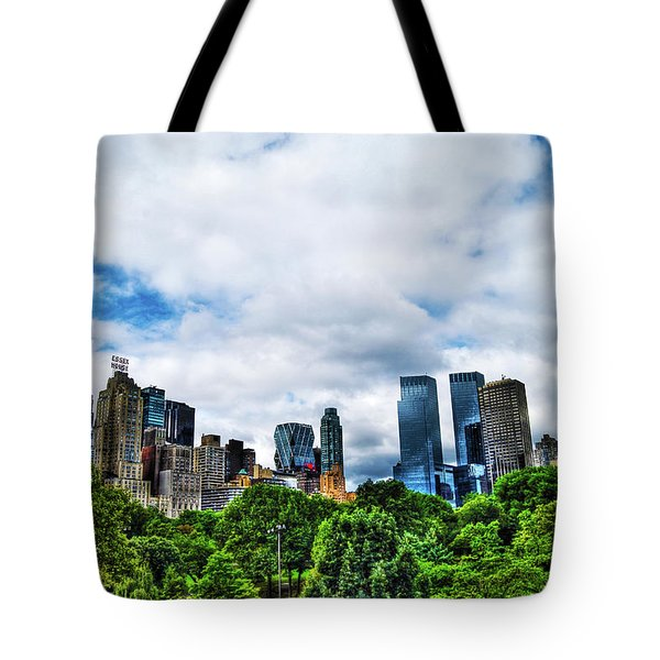 Nature In Metropolis Tote Bag by Randy Aveille