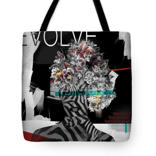 Tote Bag featuring the digital art Nature Is God by Nola Lee Kelsey