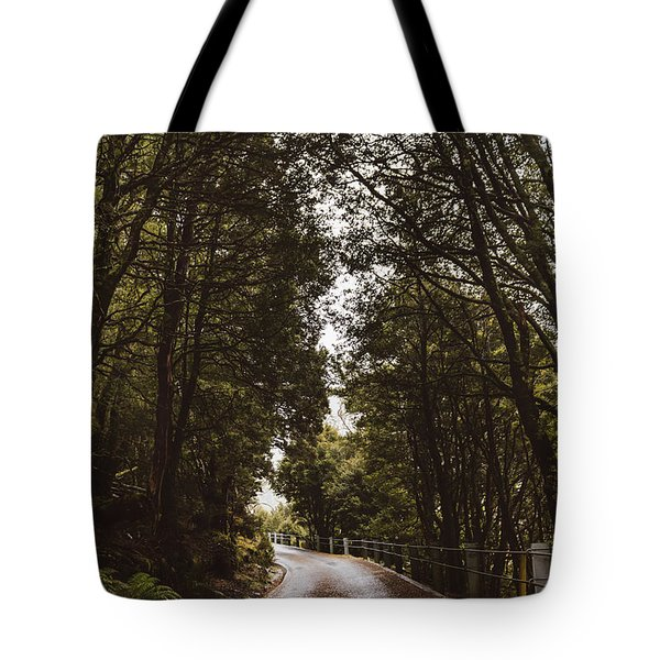 Tote Bag featuring the photograph Nature Landscape Photo Of A Scenic Mountain Road by Jorgo Photography - Wall Art Gallery