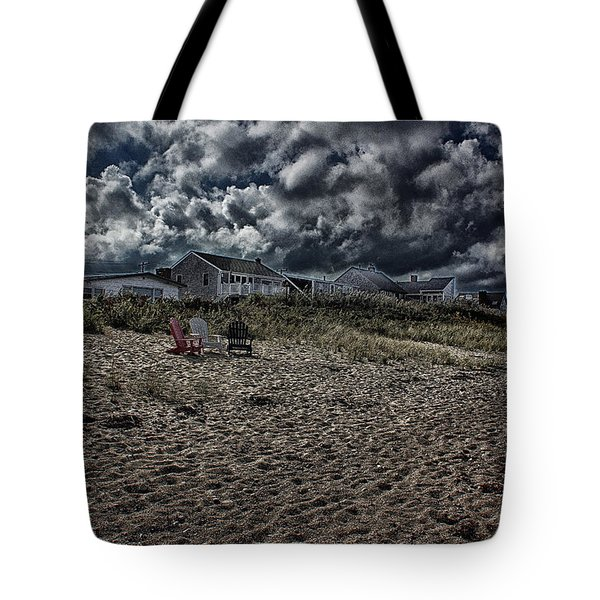 Tote Bag featuring the photograph Nature Playing To An Empty Beach by Constantine Gregory
