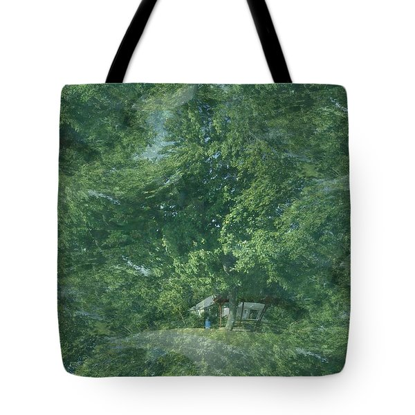 Tote Bag featuring the photograph Nature Trees Fractal by Skyler Tipton