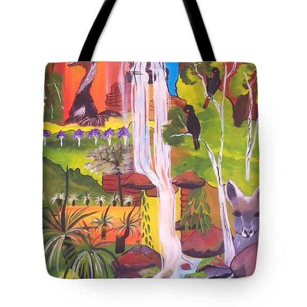Tote Bag featuring the painting Nature Windows by Lyn Olsen