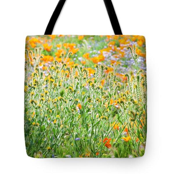 Nature's Artwork - California Wildflowers Tote Bag