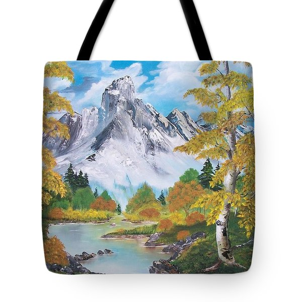 Tote Bag featuring the painting Nature's Beauty by Sharon Duguay