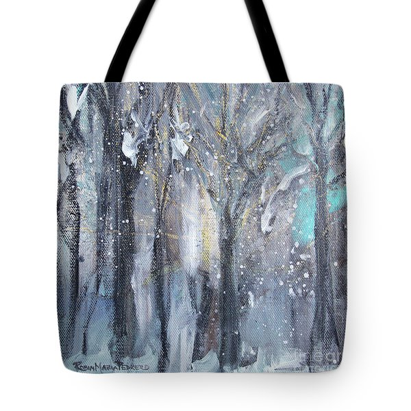 Tote Bag featuring the painting Nature's Cathedral by Robin Maria Pedrero