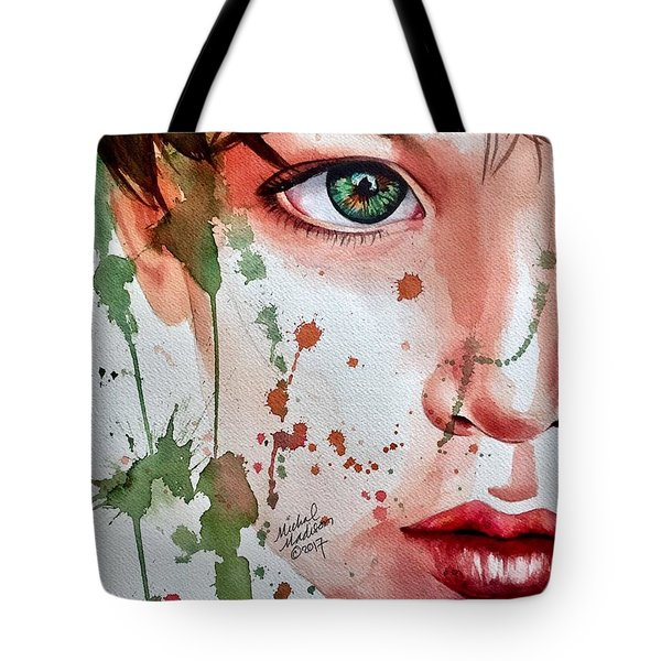 Tote Bag featuring the painting Nature's Child  by Michal Madison