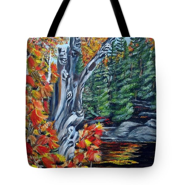 Natures Faces Tote Bag