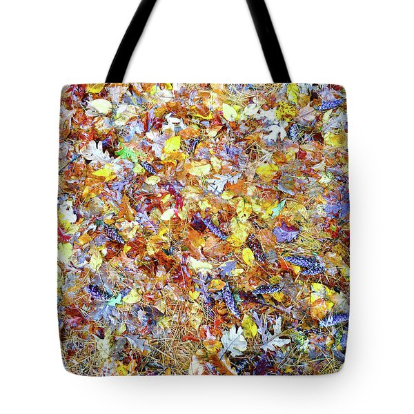 Natures Fall Falling Patterns Tote Bag