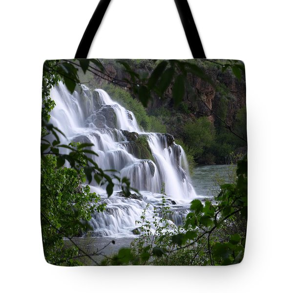 Nature's Framed Waterfall Tote Bag