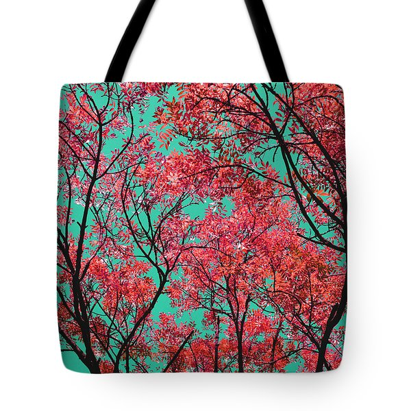 Natures Magic - Fire Red Tote Bag