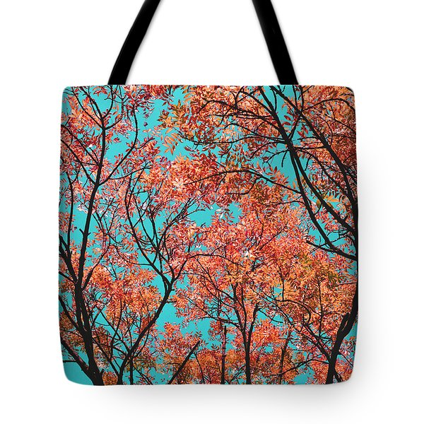Tote Bag featuring the photograph Natures Magic - Orange by Rebecca Harman