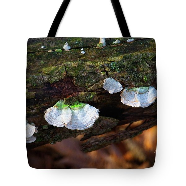 Tote Bag featuring the photograph Natures Ruffles - Cascade Wi by Mary Machare