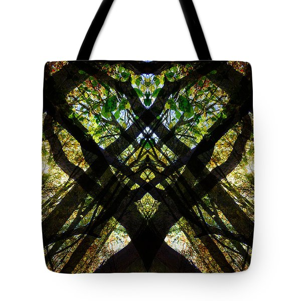 Natures Stain Glass Tote Bag